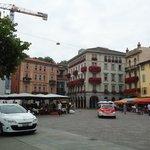 no centro de Lugano...