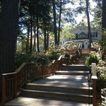 Walk down to the water from main inn