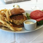 Crab cake sandwich for lunch
