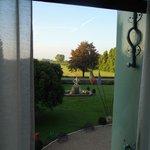 Zimmer 501 - Blick in den Garten (Südseite)