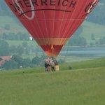 Ballonstart hinter der Pension Irlingerhof