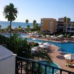 Vista desde balcón lateral, playa