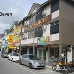7 Eleven convenient store at the right side