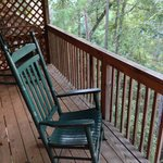 My cabin's back deck