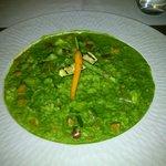 Risoto verde de espinacas con verduras