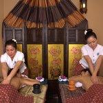 Massage duo aux huiles chaudes