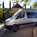 Our luxury Mercedes 9 passenger tour vehicle. for all group tours