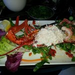 Special of the day: lobster, crab, and shrimp salad. Amazing!!!