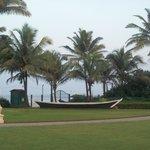 Garden Lawns near Beach inside hotel campus