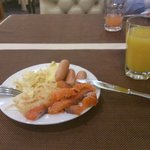 Breakfast - salmon peaces were delicious