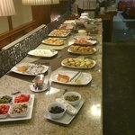 Breakfast - selection of cold dishes