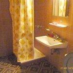 Room 16 shower and washbasin