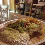 Chili Relleno and Taco plate