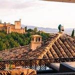 """Sunset and Alhambra views from """"El Huerto de Juan Ranas"""""""