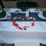 table du soir décorées
