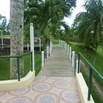Walkway from room to dining