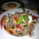 Very hot glass noodle Seafood salad