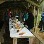 Ons ontbijt in de bossen van Saint-Hubert