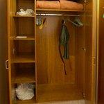 The wardrobe, devoid of safe