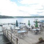 Splendid views of Lake Keuka from the dining area