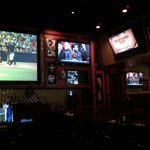 Multiple sports tvs in the bar area