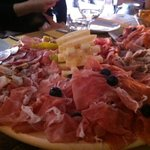The cured meat and cheese platter