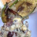 Supposedly blue cheese & avocado burger
