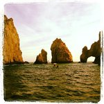 A view of the arch from the Sea of Cortez looking to the Pacific