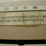 sign on our A/C --was there a long time