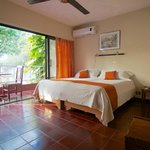 Oceanview room with A/C and king bed or twin setup