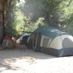 Tent camping is available at our resort.