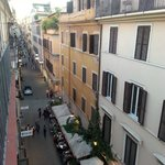view from room looking left down Via Mario de'Fiori