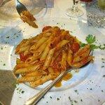 "penne arabiatta. If you like ""hot"" food, you will do like."