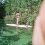 Standing on the paddleboard. Piece of cake!