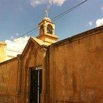 The entrance to church at Midyat