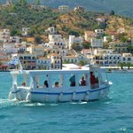 Little ferry boat to mainland from Poros