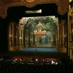 "The theatre interior, with the set for ""Capriccio"""