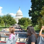 Vista del Capitolio al medio día, desde el BUS de paseo