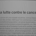 Cartaz falando sobre a luta contra o câncer