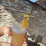 Magic cocktail from beach bar