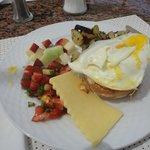 Breakfast from main Magico restaurant