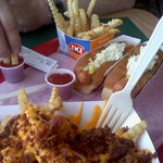 Hinton DQ dog and chili cheese fries
