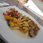 Lunch from the main Magico restaurant buffet