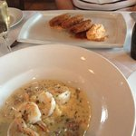 fried green tomatoes, shrimp n grits- YUM