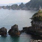夕暮れの三王岩