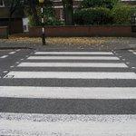 A famosa faixa de pedestres da Abbey Road