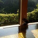 開放感満天の7階の風呂