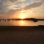 Sunset over Alvor marina