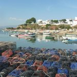 Alvor marina and the fishermen's lobster pots