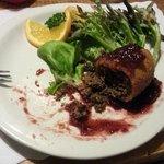 Venison Croquette with a cranberry sauce